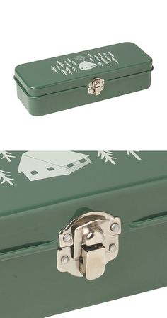 Take it camping or just use it around the house. This sturdy container is great for anything from pencils to small hand tools, spare change, or whatever nicknacks you happen to accumulate. With a charm...  Find the Evergreen Camping Box, as seen in the The Outdoor Outfitter Collection at http://dotandbo.com/collections/holiday-boutiques-the-outdoor-outfitter?utm_source=pinterest&utm_medium=organic&db_sku=113294