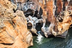 Bourke's Luck Potholes an der Panorama Route in Südafrika Strand, Lion Sculpture, Africa, Statue, Explore, Travel, Pictures, Sculpture