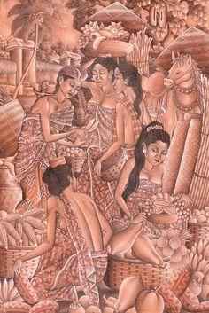 Ida Bagus Rai (Padangtegal, Gianyar, 1933) - Pasar.