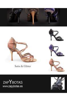 Chaussures danse violettes paillettées