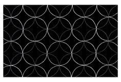 Berkeley Rug, Black/Light Gray on OneKingsLane.com