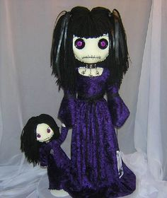 Mouth stitiched shut. There is a growing appeal for these dolls. It might have something to do with the idea that girls feel this way. Shut down, shut up, muted.   gothic rag doll