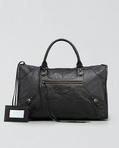 Classic Work Bag, Black by Balenciaga at Neiman Marcus. Balenciaga Clutch, Balenciaga Handbags, Balenciaga City Bag, My Style Bags, Bohol, Best Handbags, How To Make Handbags, Pumps, Heels