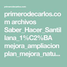 primerodecarlos.com archivos Saber_Hacer_Santillana_1%C2%BA mejora_ampliacion plan_mejora_natu_1.pdf