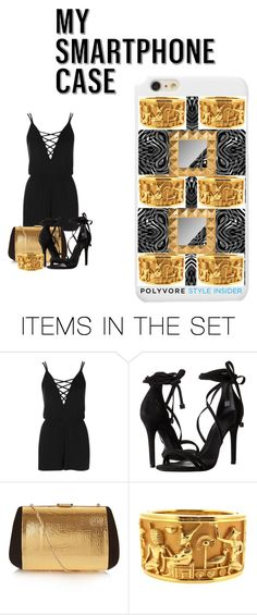"""""""#MySmart Black and Gold Style"""" by artiva-diva ❤ liked on Polyvore featuring art, contestentry and PVStyleInsiderContest"""