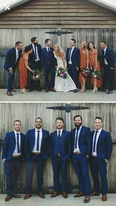 We are here to help you find the right wedding dress, bridesmaid dress and all accompanying needs including tux rental. Fall Wedding Groomsmen, Bridesmaids And Groomsmen, Fall Groomsmen Attire, Navy Groomsmen, Wedding Goals, Dream Wedding, Wedding Ideas, Burnt Orange Weddings, Burnt Orange Bridesmaid Dresses