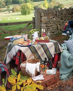 The warm spectrum of autumn hues can be found in plaids and pumpkins, a perfect combination to creat...