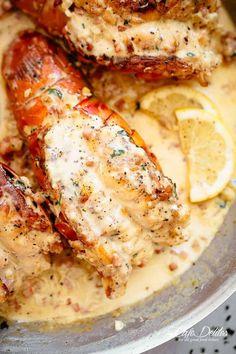 Lobster Dishes, Lobster Recipes, Fish Recipes, Seafood Recipes, Cooking Recipes, Chicken Recipes, Dinner Recipes, Dinner Ideas, Keto Recipes