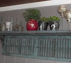 Upcycling old shutters is a great way for those who are looking for cheap ideas to decorate their home. You probably have a few old shutters in your own garage. If not, they can be found at salvage yards or thrift shops for pennies. Old Window Shutters, Vintage Shutters, Wood Shutters, Repurposed Shutters, Country Shutters, Small Shutters, White Shutters, Window Frames, Window Ideas