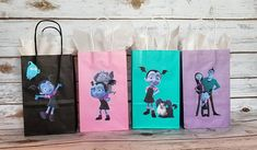 Check out our vampirina birthday selection for the very best in unique or custom, handmade pieces from our party décor shops. Birthday Party Goodie Bags, 5th Birthday Party Ideas, Third Birthday, Birthday Party Decorations, Party Bags, Happy Birthday, Party Gifts, Party Favors, Imprimibles Halloween