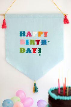 felt happy birthday banner by chiarabelle on Etsy https://www.etsy.com/listing/219439259/felt-happy-birthday-banner