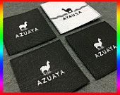 1200 Creat custom labels,Custom clothing label, Woven label for art logo Clothing Labels