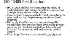 #ISO13485Certification is to ensure the effective quality assurance for medical devices and help to manage the relationship between customers and manufactures. URS provide ISO 13485 certification in all India.
