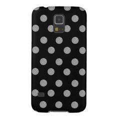 Silver Glitter Polka Dots Choose Background Color Galaxy S5 Case - glitter glamour brilliance sparkle design idea diy elegant
