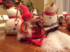 Je crois que Bobinette et monsieur bonhomme de neige c'est pas l'amour fous entre eux!