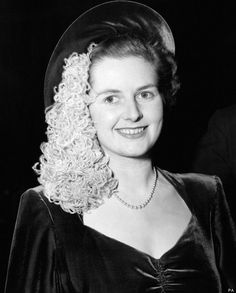 Margaret Thatcher Roberts As She Then Was Campaigning In 1951 For The Constituency Of Dartford