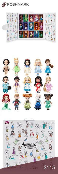 coolTop Disney Tattoo - Disney Princess Animators Collection 15 Mini Dolls Set of 15 Disney Animators&#3...