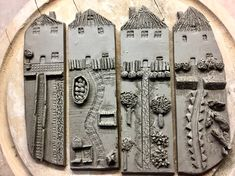 These are so charming can you imagine what message you could stamp on the clay so stinkin amazing – Artofit. Make at the other Carmen's? Pottery Houses, Ceramic Houses, Slab Pottery, Ceramic Pottery, Pottery Art, Clay Art Projects, Ceramics Projects, Ceramic Wall Art, Ceramic Clay