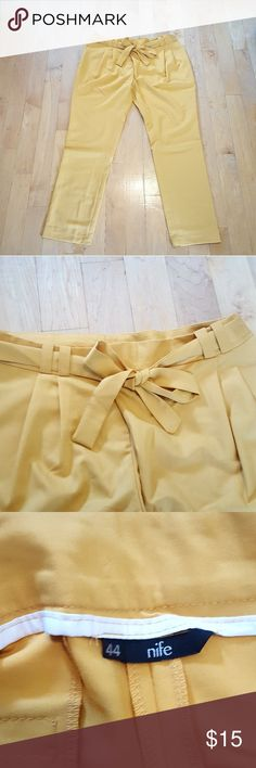 NWOT Yellow Pant by Nife Simple and classy. A great golden yellow color. Well made pant, by nife. nife Pants Trousers