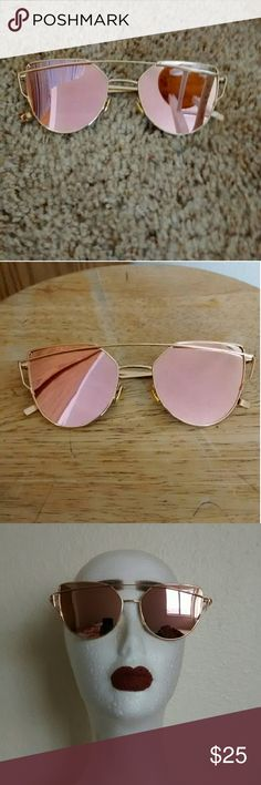 ONE LEFT! Rose Gold Sunglasses These sunglasses are brand new and have no flaws. PRICE FIRM! :) Boutique  Accessories Glasses