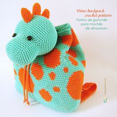 My newest kid's backpack crochet pattern has just been released. It's a bright dino backpack which is about the same size and attributes as the giraffe and hippo backpacks but with a big dots' pattern which is made at the…