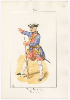 de Bercheny, Chasseur, 1760 by Charles Lyall. Seven Years' War, 18th Century Clothing, French Army, Napoleonic Wars, Military History, 16th Century, Warfare, North America, Nerd