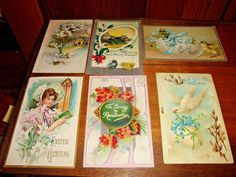 Antique Vintage Easter Postcards Mixed Lot of 6 Early 1900s  Group B #Easter