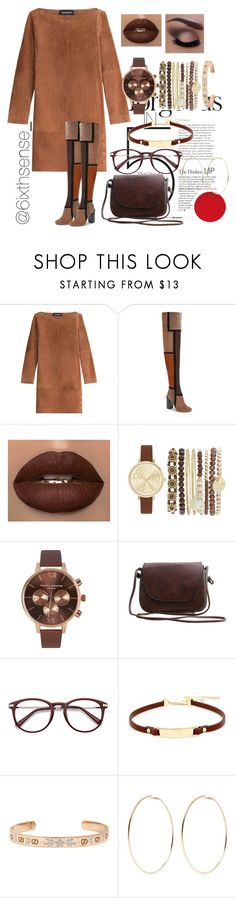 """""""cocoa🍫"""" by barelycutedoe ❤ liked on Polyvore featuring Vanessa Seward, Jeffrey Campbell, Jessica Carlyle, Olivia Burton, Kenneth Cole, Gucci and Kenneth Jay Lane"""