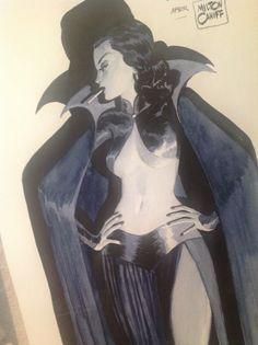 Dragon Lady after Milton Caniff par Dominique Bertail