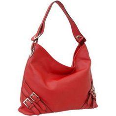 Women designer inspired soft hobo bag handbag red