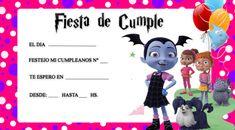 invitaciones de vampirina fiesta Family Guy, Invitations, Comics, Halloween, Birthday, Ideas, Fictional Characters, 5 Years, Frozen Invitations