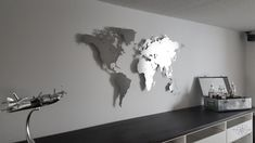 Montage, Design, Home Decor, Nature, Brickwork, World Wide Map, Stainless Steel, Hang In There, Cards