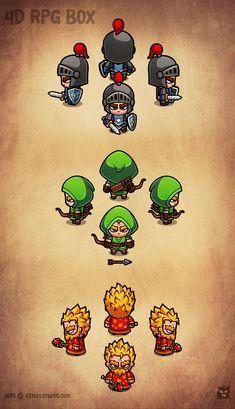 4D RPG Characters || #EatCreatures #DanielFerencak #gameart #Santa #Christmas