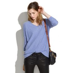 Slub V-Neck Sweater - pullovers - Women's SWEATERS - Madewell