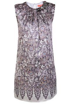 RENÉ DERHY  OXFORD Grey Silk Mini Dress