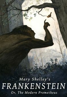 Book cover illustration forMary Shelley's 'Frankenstein; Or, The Modern Prometheus'