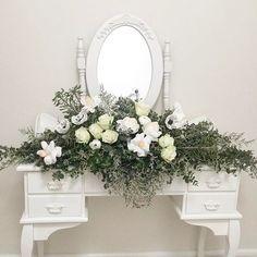 This amazing bridal centre piece by Paper Fleur Australia Poppy, roses, camellia