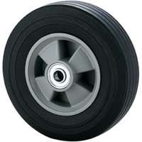 HAND TRUCK WHEEL 8X2.25SOLID by MINTCRAFT. $12.99. Plastic rimmed, 1-13/16'' (46mm) hub length. 550 lbs. (250 kgs) load rating. Ribbed tread pattern. Solid ball bearing. Replacement wheel for hand truck no. (001.1049). 5/8'' axle.
