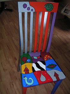 Bemalte Stühle alte stuehle dekorieren alte moebel aufpeppen upcycling ideen diy