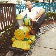 Jason Statham on a train. ❣Julianne McPeters❣ no pin limits