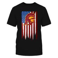 Grunge American Flag - USC Trojans T-Shirt, Officially Licensed Exclusive Design Celebrate the USC Trojans and the USA with this patriotic design featuring the University of Southern California Trojans logo and an American flag. Not Available in Stores!  The USC Trojans Collection, OFFICIAL MERCHANDISE  Available Products:          District Men's Premium T-Shirt - $27.95 District Women's Premium T-Shirt - $29.95 Next Level Women's Premium Racerback Tank - $29.95 Pack of 4 stickers - $10.00…