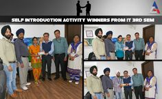 Department of IT, ACET along with Improving Communication Skills (ICS) committee conducted few exciting competitions for students. Students of ACET took keen interest in these and participated with enthusiasm, winning several prizes in various categories.