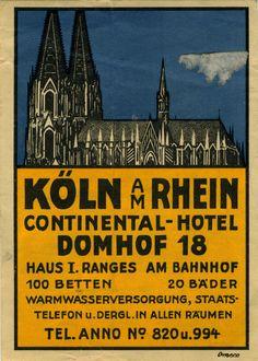Koln AM Rhein Continental-Hotel