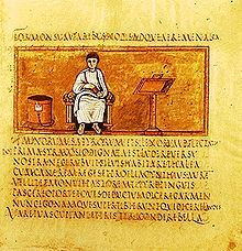 The Roman poet Virgil, here depicted in the fifth-century manuscript, the Vergilius Romanus, preserved details of Greek mythology in many of his writings