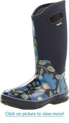 Bogs Women's Classic High Secret Garden Boot Mud Boots, Garden Boots, Wet Weather, High Boots, Rubber Rain Boots, Floral Prints, Classic, Shoes, Gardening
