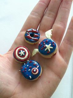 Polymer Clay Charm: Captain America Inspired Charm