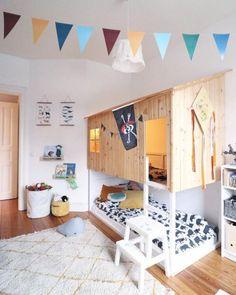 15 creative hacks of the Ikea Kura bed Cama Ikea Kura, Trofast Ikea, Ikea Kura Hack, Ikea Hacks, Ikea Bunk Bed Hack, Kids Room Design, Bed Design, Kids Bedroom Furniture, Bedroom Decor