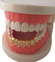 *50%* OFF SALE - 14K GP Grills Grillz Bottom Lower Open Face Fangs