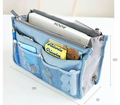 ortable Multi-function Double zipper cosmetic bag