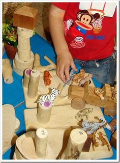 Creative ways to reuse materials for loose part play...